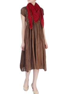 dark-brown-pleated-tunic