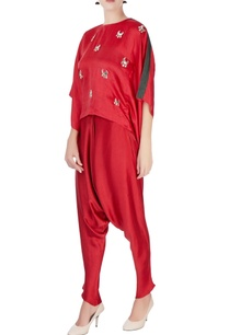 red-cowl-draped-pants