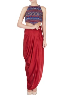 multicolored-crop-top-maxi-skirt