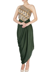 multicolored-top-green-sarong-style-skirt