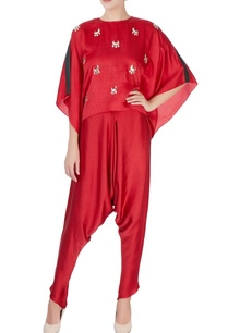 red-moon-motif-kaftan-top