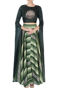 green-top-with-flowy-draped-sleeves
