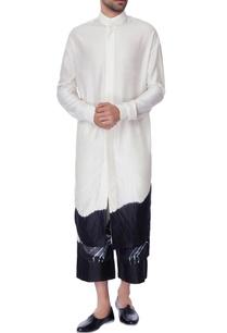 white-black-chanderi-tie-dye-long-kurta
