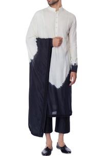 white-black-draped-tie-dye-kurta