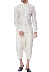 white-drop-crotch-chanderi-loose-pants