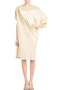 beige-zardozi-draped-dress