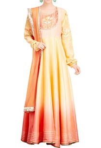 fawn-peach-shaded-anarkali-set