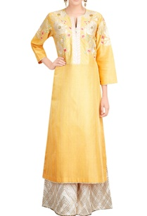 yellow-embroidered-kurta-palazzo