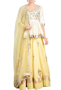 off-white-light-yellow-lehenga-set