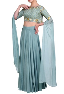 powder-blue-cape-blouse-lehenga