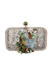 multicolored-sheer-metal-clutch