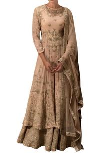 beige-embroidered-kurta-lehenga