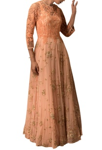 peach-thread-work-embroidered-anarkali