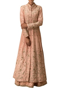 rose-pink-embroidered-kurta-lehenga