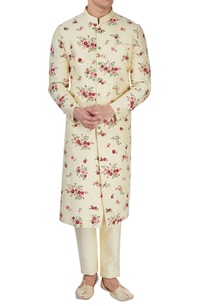light-yellow-floral-print-sherwani