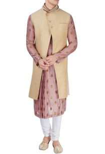 pink-pleated-kurta-with-jacket