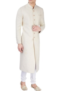 white-sherwani-with-floral-print-buttons