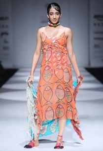 orange-printed-strappy-dress