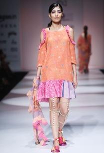 orange-pink-printed-dress
