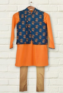 blue-printed-kurta-set