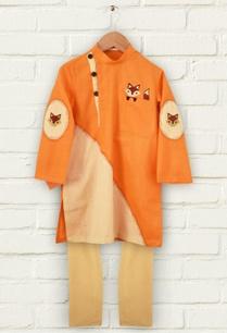 orange-fox-print-kurta