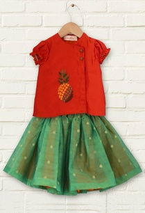 red-kurta-with-green-tutu-skirt