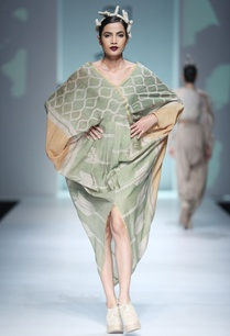 green-orange-batik-print-maxi-dress