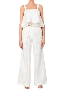 white-double-layer-cami-top-pants