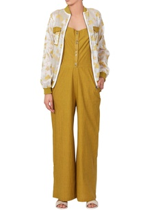 yellow-jumpsuit-floral-bomber-jacket