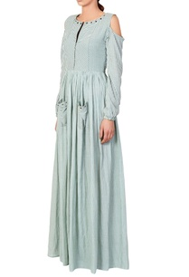 green-white-stripe-maxi-dress