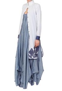 blue-gathered-maxi-dress-jacket