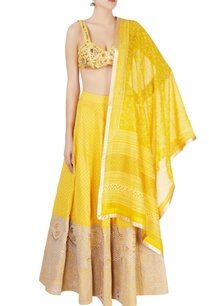 yellow-hand-embroidered-lehenga