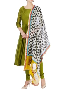 olive-green-chanderi-silk-anarkali-set