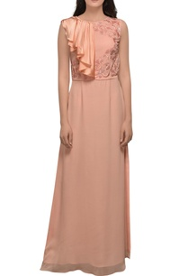 peach-high-slit-gown
