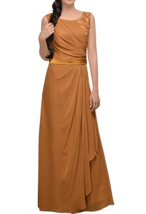 burnt-orange-gown-with-slit
