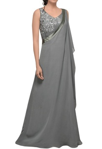 grey-one-shoulder-drape-gown