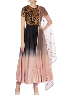 black-pink-ombre-anarkali-set