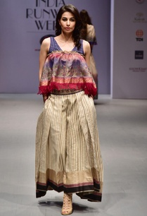 multicolored-striped-pleated-lehenga