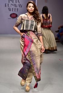 beige-black-printed-concept-sari
