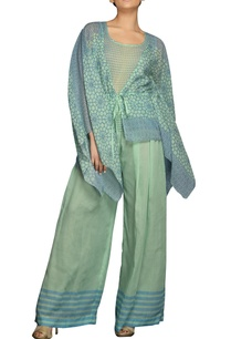 blue-green-digital-print-pant-set