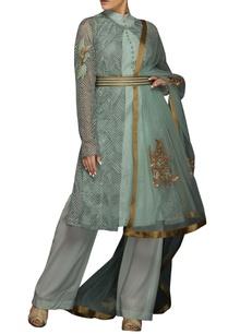 blue-and-beige-thread-embroidered-kurta-set