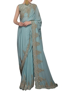 icy-blue-sequin-embellished-sari