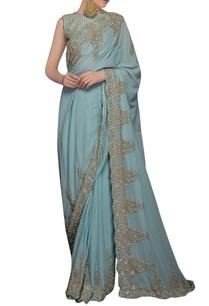 icy-blue-sequin-embellished-sari