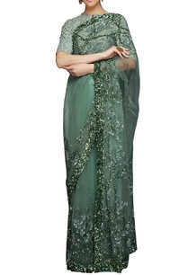sea-green-sequin-sari-blouse