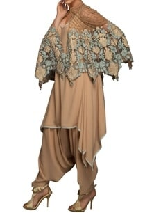 beige-blue-applique-embroidered-cape