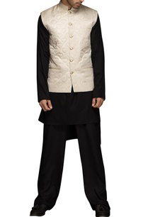 black-heart-motif-nehru-jacket-set