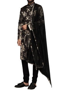 black-white-digital-print-sherwani