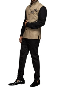 beige-umbrella-motif-nehru-jacket