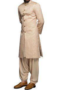 peach-thread-embroidered-sherwani