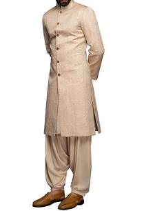 peach-thread-embroidered-sherwani